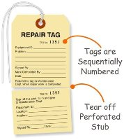Maintenance & Repair Tags